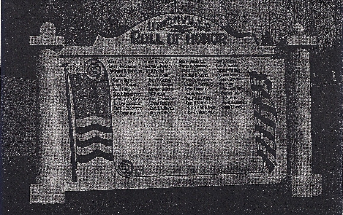 Unionville Roll of Honor